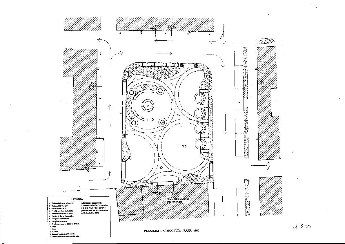 Planimetria di Piazza delle Scuole Pie - Frascati